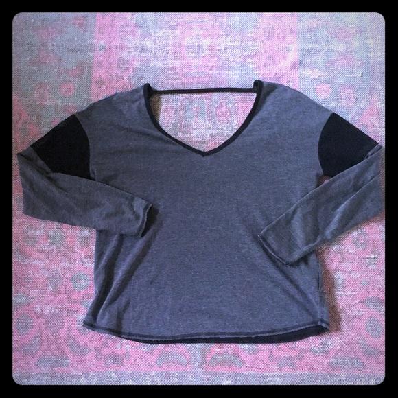 Nike Tops - Hurley Nike dry fit mesh sleeve crop top size L